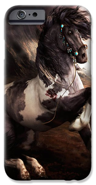 Wall Art Digital Art iPhone Cases - Apache Blue iPhone Case by Shanina Conway