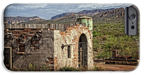 Cabin Window iPhone Cases - Apache Junction Vista iPhone Case by Lee Craig