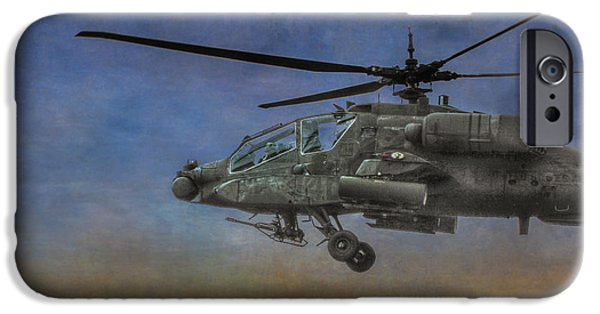 Iraq Prints iPhone Cases - Apache Morning Patrol iPhone Case by Randy Steele