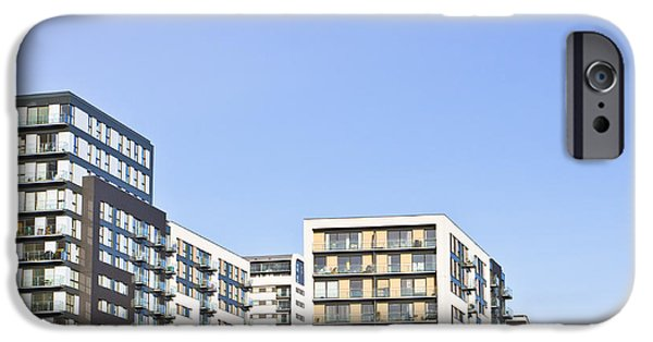 Balcony iPhone Cases - Apartment blocks iPhone Case by Tom Gowanlock