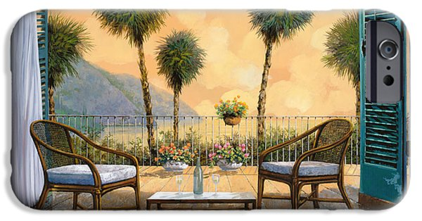 Dating iPhone Cases - Aperitivo Al Tramonto iPhone Case by Guido Borelli