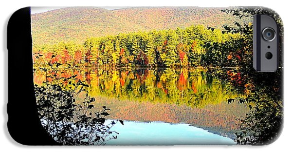 Mt Chocorua iPhone Cases - Aperture iPhone Case by Mim White