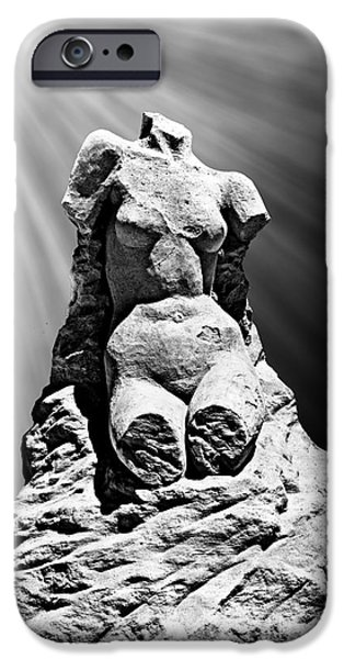 Sand Castles iPhone Cases - Aphrodite of Milos Styled Sand Castle iPhone Case by Tom Gari Gallery-Three-Photography