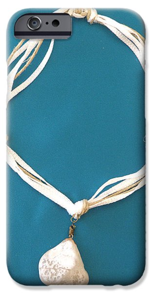 Sea Jewelry iPhone Cases - Aphrodite Urania Necklace iPhone Case by Augusta Stylianou