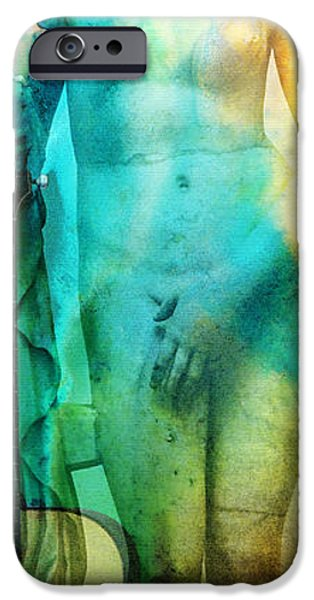 Lyrical iPhone Cases - Aphrodites First Love - Guitar Art By Sharon Cummings iPhone Case by Sharon Cummings