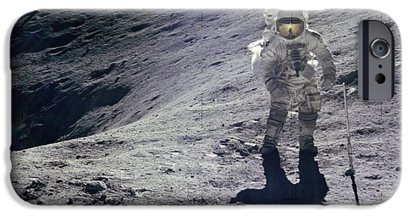 Stellar iPhone Cases - Apollo 16 iPhone Case by Celestial Images