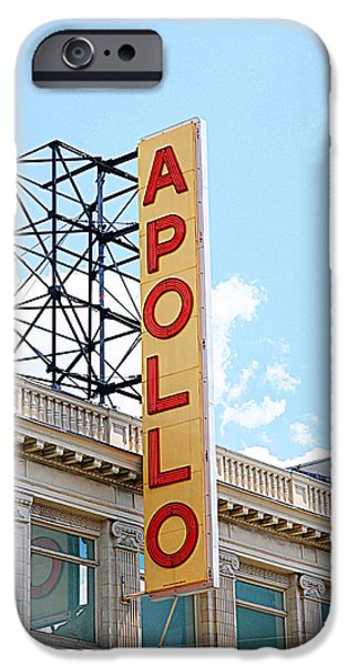 Harlem iPhone Cases - Apollo Theater Sign iPhone Case by Valentino Visentini