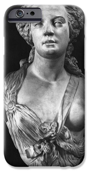 Statue Portrait iPhone Cases - Apollonie Sabatier iPhone Case by Jean Baptiste Auguste Clesinger