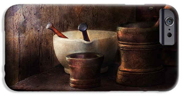 Pharmacy iPhone Cases - Apothecary - Pick a Pestle  iPhone Case by Mike Savad