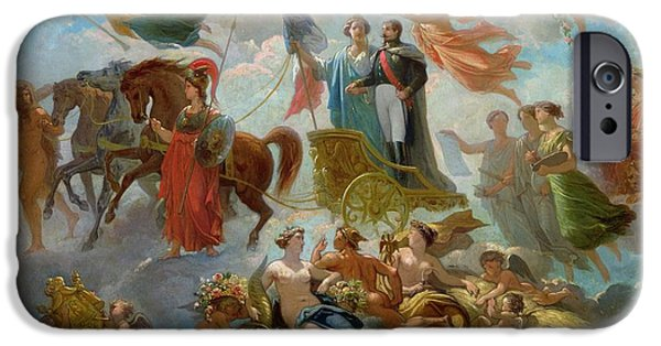 Allegory iPhone Cases - Apotheosis of Napoleon III iPhone Case by Guillaume-Alphonse Harang Cabasson