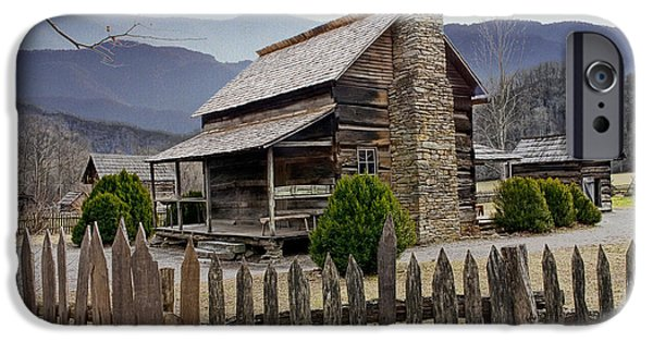 Mountain Cabin iPhone Cases - Appalachian Mountain Cabin iPhone Case by Randall Nyhof