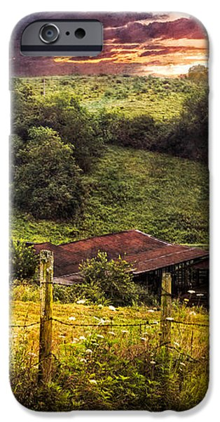 Appalachian Mountain Farm iPhone Case by Debra and Dave Vanderlaan