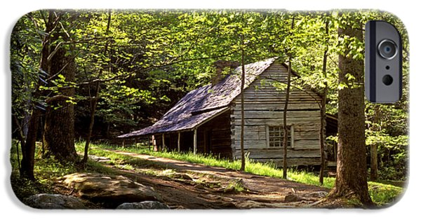 Mountain Cabin iPhone Cases - Appalachian Mountain Log Cabin iPhone Case by Paul W Faust -  Impressions of Light