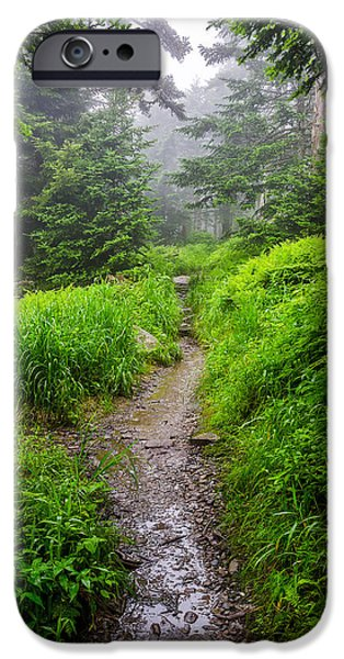 Smoky iPhone Cases - Appalachian trail at Clingmans dome iPhone Case by Anthony Heflin