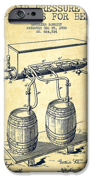 Tap iPhone Cases - Apparatus for Beer Patent from 1900 - Vintage iPhone Case by Aged Pixel
