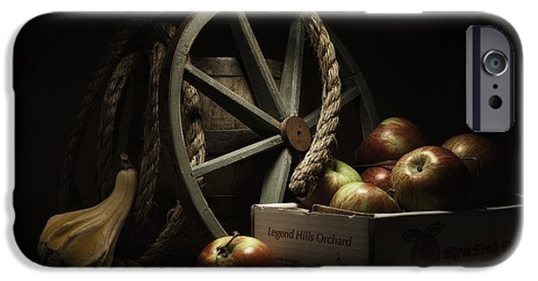 Gourd iPhone Cases - Apple Basket Still Life iPhone Case by Tom Mc Nemar