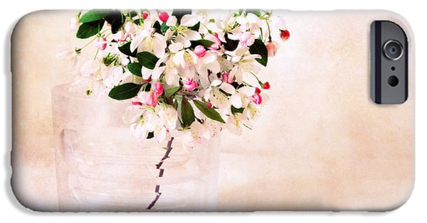 Apple Trees iPhone Cases - Apple Blossom Still Life iPhone Case by Jessica Jenney