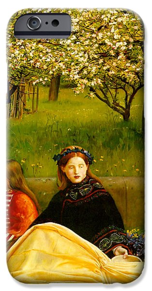 Apple Blossoms iPhone Case by John Everette Millais