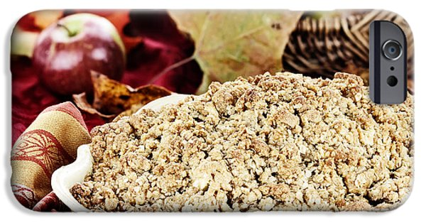 Oatmeal iPhone Cases - Apple Crisp iPhone Case by Stephanie Frey