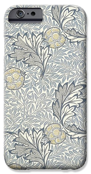 Food And Beverage Tapestries - Textiles iPhone Cases - Apple Design 1877 iPhone Case by William Morris