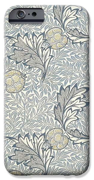 Food And Beverage Tapestries - Textiles iPhone Cases - Apple Design iPhone Case by William Morris