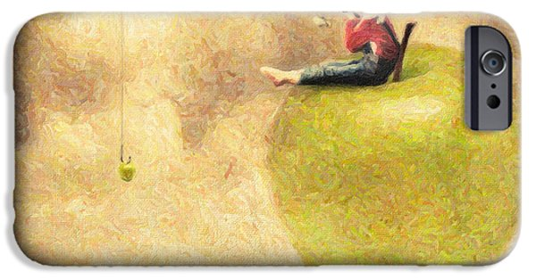 Alice In Wonderland iPhone Cases - Apple Dream iPhone Case by Taylan Soyturk