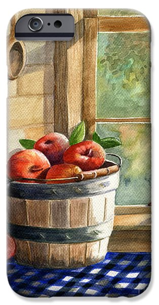 Marilyn Smith Paintings iPhone Cases - Apple Harvest iPhone Case by Marilyn Smith