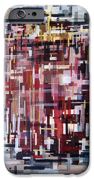 Circuit Paintings iPhone Cases - Apple iPhone Case by Mark  Blome