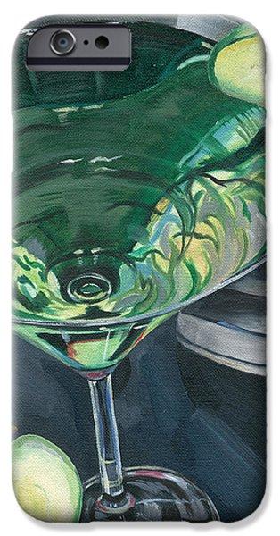 Apple Martini iPhone Case by Debbie DeWitt
