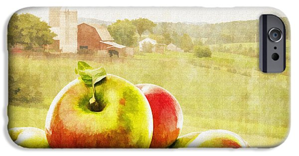 Agricultural iPhone Cases - Apple Picking Time iPhone Case by Edward Fielding