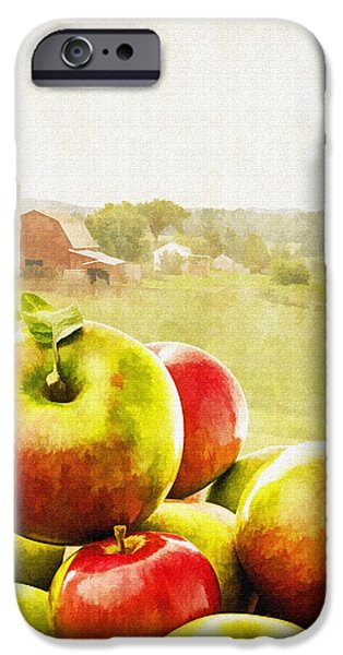 Apple Picking Time iPhone Case by Edward Fielding