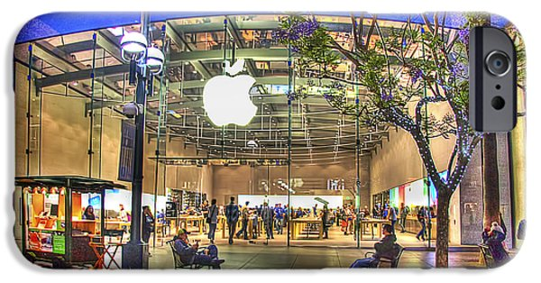 Jacaranda Tree iPhone Cases - Apple Store - Santa Monica iPhone Case by Chuck Staley