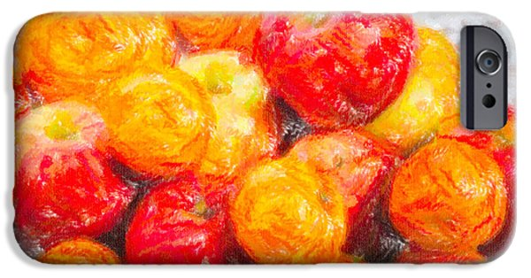 Organic Pastels iPhone Cases - Apple Tangerine and Oranges iPhone Case by Alain De Maximy