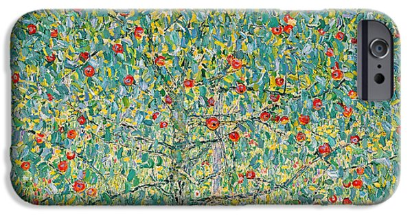 Apple Trees iPhone Cases - Apple Tree I iPhone Case by Gustav Klimt
