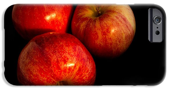 Reflection Harvest iPhone Cases - Apple trio iPhone Case by Jean Noren