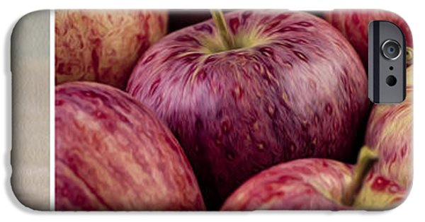 Food And Beverage Mixed Media iPhone Cases - Apples 01 iPhone Case by Nailia Schwarz