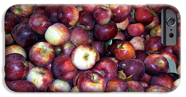 Farm Stand Photographs iPhone Cases - Apples iPhone Case by Janine Riley