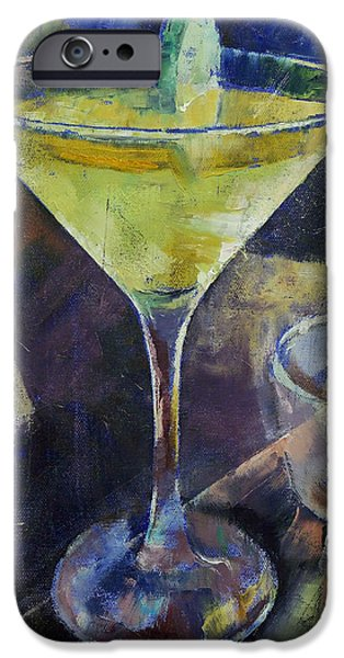 Cosmos Paintings iPhone Cases - Appletini iPhone Case by Michael Creese