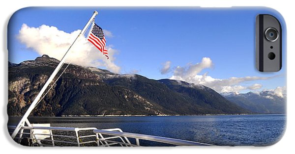 Old Glory iPhone Cases - Approach to Haines iPhone Case by Cathy Mahnke