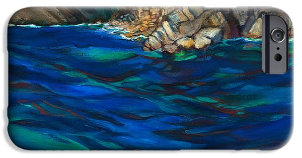 Terra Paintings iPhone Cases - Approach to Riomaggiore iPhone Case by Jen Norton