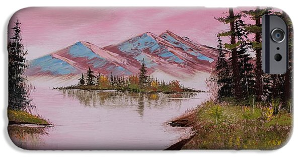Bob Ross Paintings iPhone Cases - Approaching Autumn iPhone Case by Shannon Wells