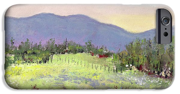 Farm Landscape Pastels iPhone Cases - Approaching Home iPhone Case by David Patterson