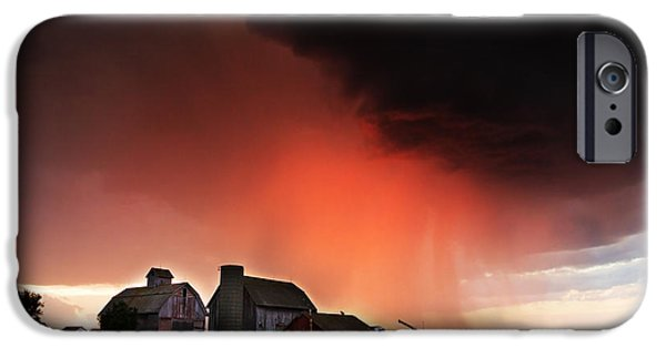 Fury iPhone Cases - Approaching Storm iPhone Case by Carol Mellema