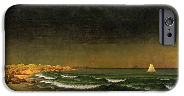 Approaching Storm iPhone Cases - Approaching Storm Near Newport Beach iPhone Case by Martin Heade