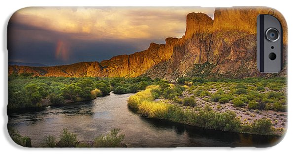 Peter James Nature Photography iPhone Cases - Approaching the Salt iPhone Case by Peter Coskun