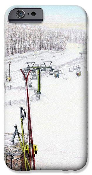 Apres-Ski at Hidden Valley iPhone Case by Albert Puskaric