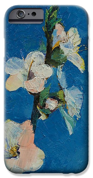 Michael iPhone Cases - Apricot Blossom iPhone Case by Michael Creese