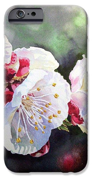 Apricot Flowers iPhone Case by Irina Sztukowski