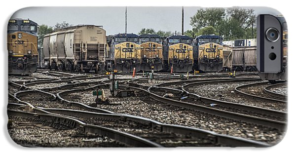 Evansville iPhone Cases - April 30 2014 - CSX Howell Yards iPhone Case by Jim Pearson