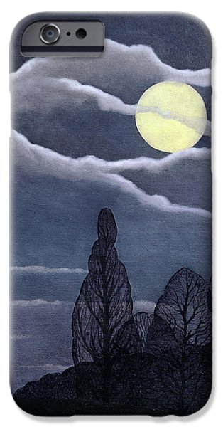 Full iPhone Cases - April Moon, 2004 Oil On Canvas iPhone Case by Ann Brain